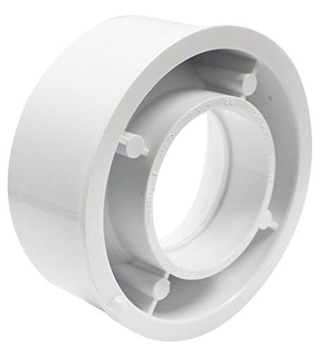 Bushing Dwv Flush (Canplas 192758 PVC DWV Flush Bushing, 4 x 2-Inch, White)
