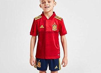 A&H Fashion 2020 - Camiseta de fútbol para niños y niños, diseño de España, color Rojo/Azul España, tamaño 28(12-13 Years): Amazon.es: Deportes y aire libre