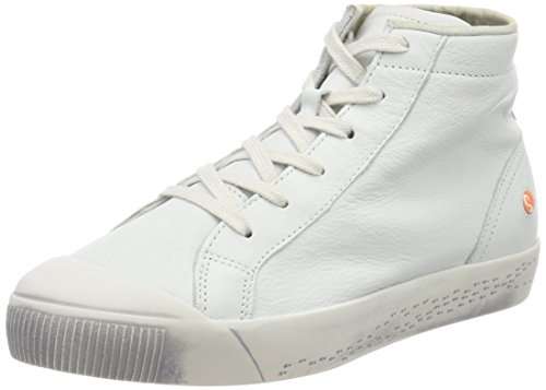 Softinos Damen Kip448sof Smooth Hohe Sneaker Weiß (White)