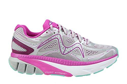 MBT Shoes Damen GT 17 Athletic Shoe Leder / Mesh-Schnürung Grau / Lila