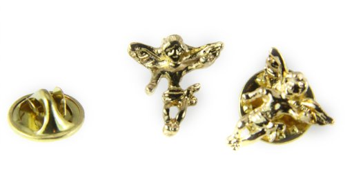 Gold Angel Lapel Pin - 6030025 Guardian Angel Lapel Pin Tack Collar Hat Pin Brooch Protector