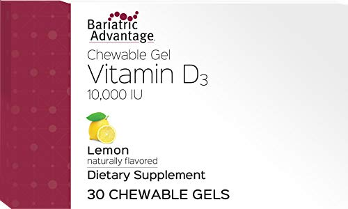 Bariatric Advantage - Vitamin D3 Chewable Gels, 10,000IU - Lemon, 30 Count