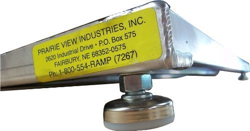 (PVI ELEV8 Adjustable Leg Aluminum Threshold Ramp, 600lb Capacity by PVI)