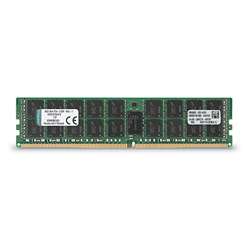 - Kingston ValueRAM 16GB RAM 2133MHz DDR4 ECC Reg CL15 DIMM DR x 4 with TS Server Memory (KVR21R15D4/16)
