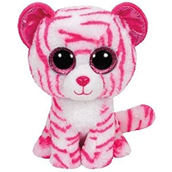 PELUCHE BEANIE BOOS 15CM ASIA WHITE AND PINK TIGRE