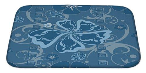 Gear New Blue Hawaii Pattern Bath Rug Mat No Slip Microfiber Memory Foam by Gear New