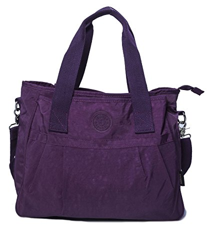 Baby Big Rainproof Large Purple Nappy Shoulder Shop Tote Bag 3 Handbag Size Compartment Shopping Fabric IwTrIq