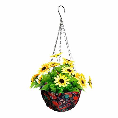 Fabric Vibrant Hanging Planter Pot (Fancy Flower) - Elite Hanging Pot