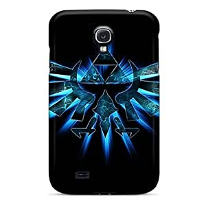High Quality Shock Absorbing Case For Galaxy S4-zelda Blue Triforce