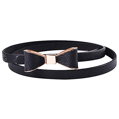 [해외]Polytree 여성 사탕 색깔 Bowknot PU 가죽 얇은 허리띠/Polytree Women`s Candy Color Bowknot PU Leather Thin Waist Belt