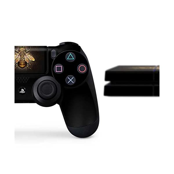 Skinit Decal Gaming Skin Compatible with PS4 Console and Controller Bundle - Officially Licensed Tate and Co. Steampunk Bee Design 4