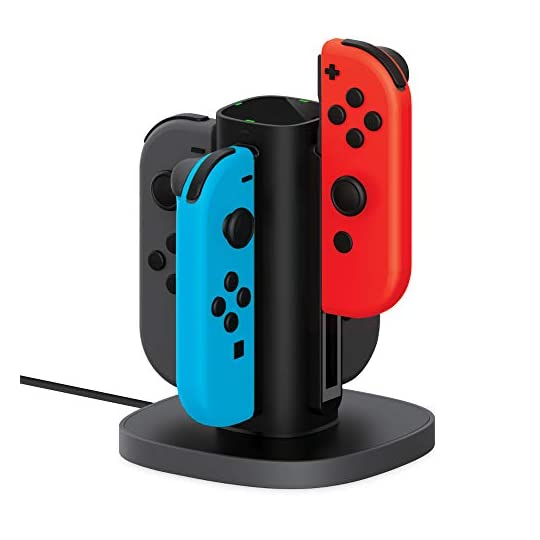 TALK WORKS Joy Con Charging Dock for Nintendo Switch – Joycon Docking Station Charges Up to 4 Joy-Con Controllers…