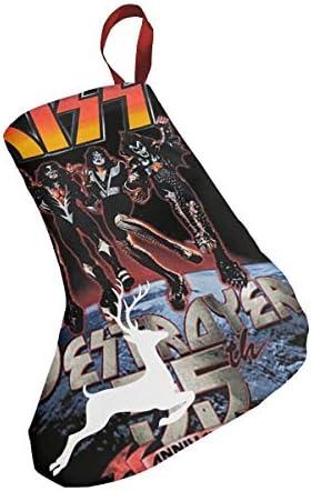 クリスマスの日の靴下 (ソックス3個)クリスマスデコレーションソックス キスバンドKISS Band クリスマス、ハロウィン 家庭用、ショッピングモール用、お祝いの雰囲気を加える 人気を高める、販売、プロモーション、年次式