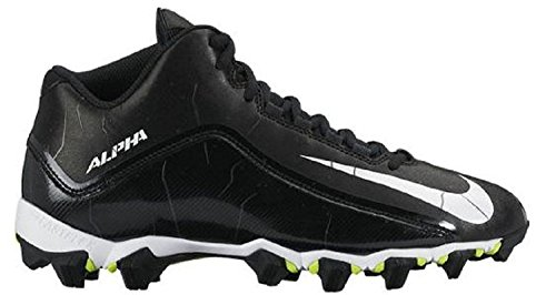 Nike Mens Alpha Shark 2 Three-Quarter Wide Football Cleat, Black/Anthracite/White, 44.5 2E EU/9.5 2E UK
