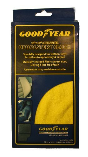 Goodyear Upholstery Cloth 12x16 Microfiber Yellow Boxed # 2833 by Goodyear