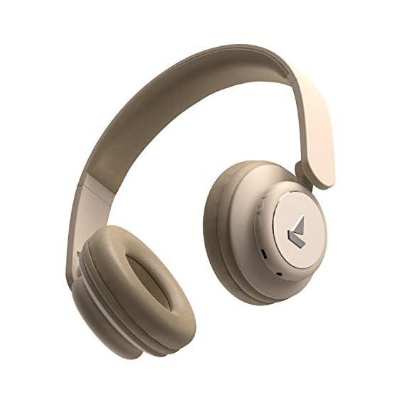 boAt Rockerz 450 Bluetooth On-Ear Headphone with Mic(Hazel Beige)