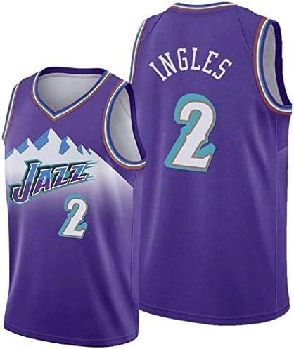 NBAジャージジョーイングレス#2、ユタジャズ、パープルバスケットボールシャツトレーニングウェア、スウィングマンジャージ、NBAメンズバスケットボールジャージ (Color : L :180cm/75~85kg)