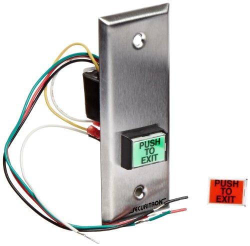 0.75 Width Narrow Stile Securitron Rectangle Emergency Exit Button 1 Length