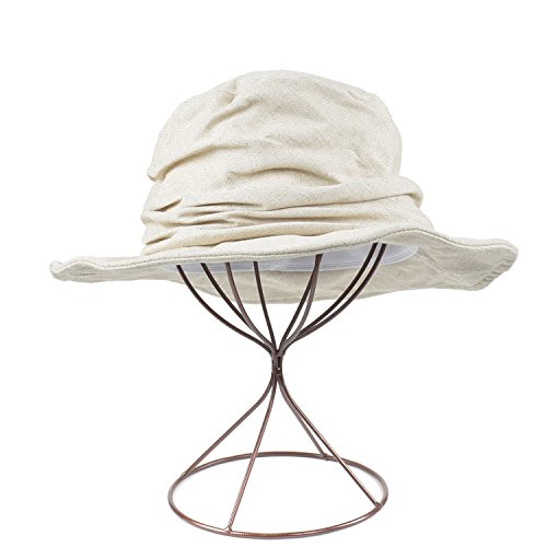 Flower-Bud women sun hat Fold Solid Color Cotton Fisherman Hat Casual Basin Hat Sunshade Hat,Cotton and Linen Basin Cap - ()