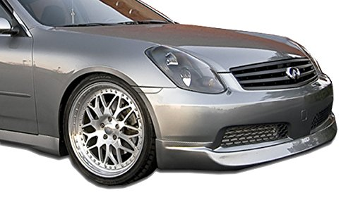 (KBD Body Kits Compatible with Infiniti G35 4DR Sedan 2005-2006 ING Style 1 Piece Flexfit Polyurethane Front Lip. Extremely Durable, Easy Installation, Guaranteed Fitment, Made in the USA!)