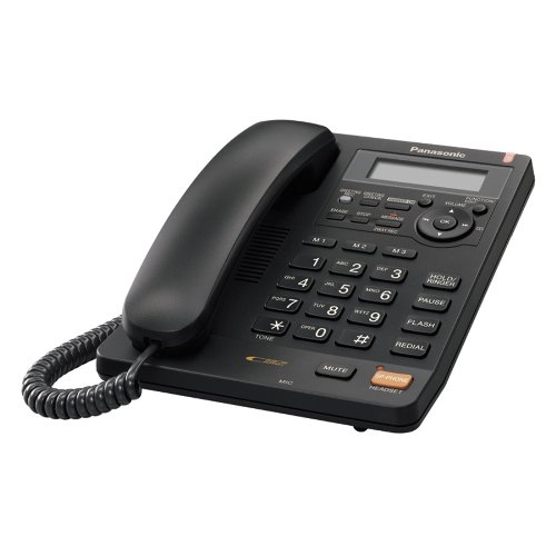 Panasonic KX-TS620B Integrated Corded Phone with All-Digital Answering System, Black