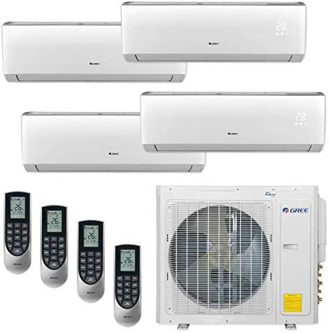 GREE MULTI30CVIR402-30,000 BTU Multi21 Quad-Zone Wall Mount Mini Split Air Conditioner Heat Pump 208-230V 9-9-12-12