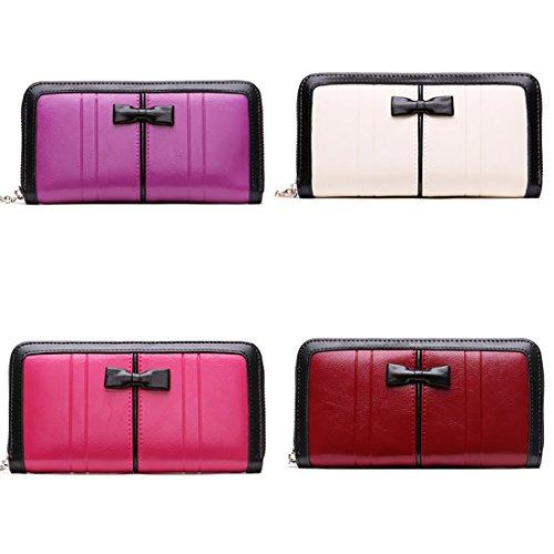 HT Women Wallet - Cartera de mano para mujer rosa (b)