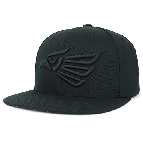Trendy Apparel Shop Hecho En Mexico Eagle 3D Embroidered Snapback Cap - Black ()