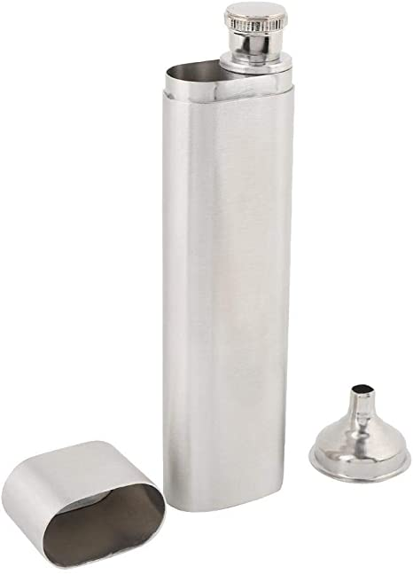 for Alcohol Lovers Stainless Steel Flask Lightweight Hip Flask Gift Cigar Holder