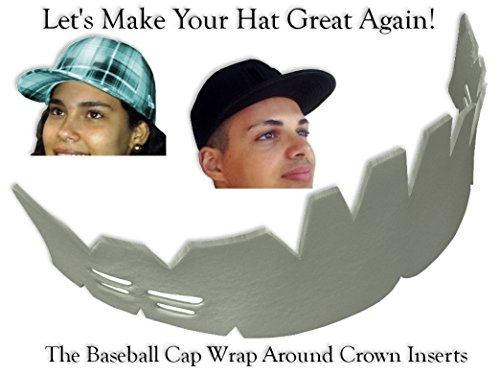 1Pk. Baseball Caps Wrap-Around Crown Inserts, Hat Shaper Washing Aide & Storage