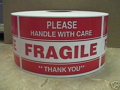 1000 3x5 Fragile Please Handle with care shipping ()