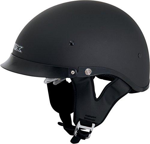 AFX FX-200 Dual Inner Lens Half-Style Beanie Helmet, Flat Black 0103-0734, Size: Sm