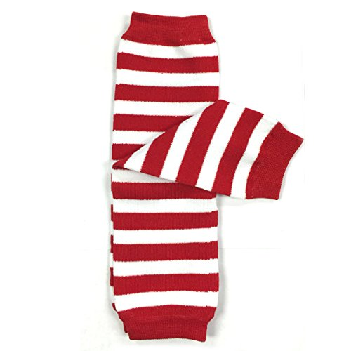 Wrapables Colorful Baby Leg Warmers, Stripes Red and -