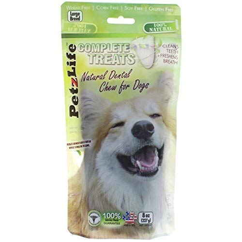 PetzLife Complete Treats: Natural Dental Chews for Dogs, Large Breed, 8 oz