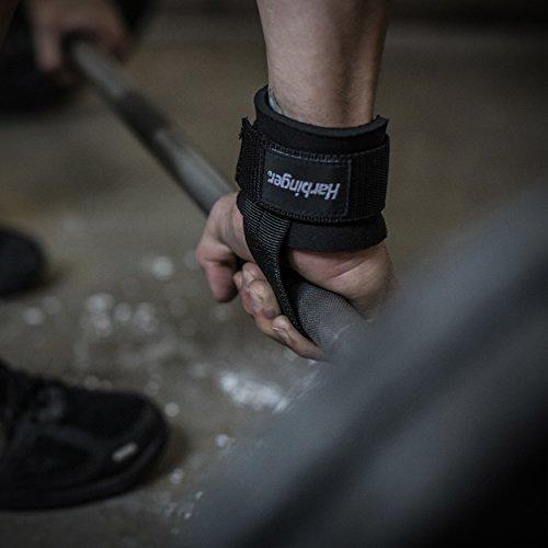 Harbinger Big Grip No-Slip Nylon Lifting Straps with DuraGrip (Pair) – DiZiSports Store