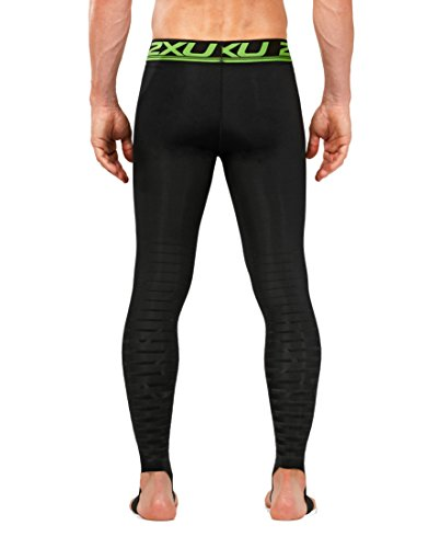 2XU Men's Elite Power Recovery Compression Tights, Black/Nero, Medium/Tall by 2XU (Image #2)