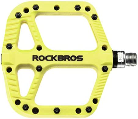 """Rock Bros Mountain Bike Pedals Nylon Composite Bearing 9//16/"""" Mtb Bicycle Pedals"""