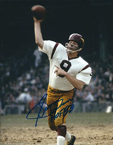 (Autographed 8x10 Sonny Jurgensen Washington Redskins Photo )