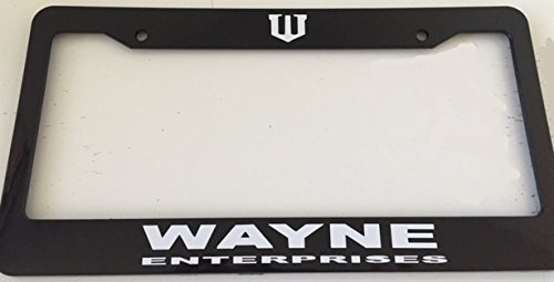 Strawbaru Wayne Enterprises - Automotive Black License Plate Frame - (Best Auto Tags Wayne)