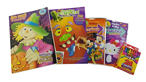 Susie's Gift Shop Halloween Coloring Sticker Bundle Kids | 5 Items Included: -