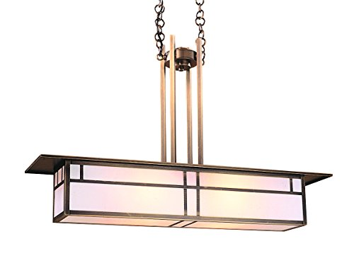 Arroyo Craftsman HCM-35DTWO-VP Huntington Mini-Island Pendant with Double T-Bar Overlay, 35