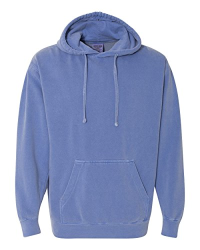 Garment Dyed Pullover Hood (Comfort Colors 1567 Garment-Dyed Pullover Hood - Flo Blue - S)