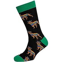 Dragon Honor Mens's Novelty Socks Crazy Funny Cute Cool Cotton Luxury Crew Socks