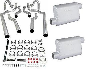 (JEGS 30555K Dual Exhaust with Chambered Mufflers)