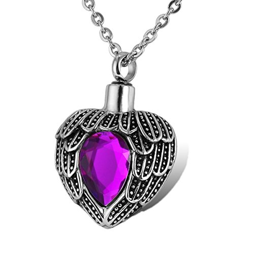 HOUSWEETY Stainless Birthstone Waterproof Cremation