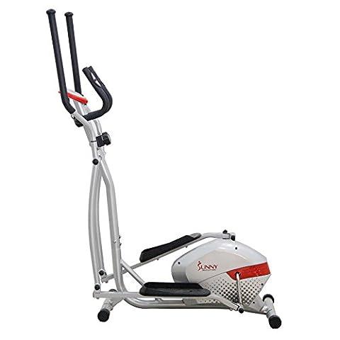 Sunny Health & Fitness SF-E3416 Magnetic Elliptical Trainer, Gray - Home Elliptical Trainer