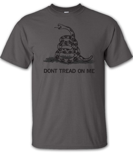 Charcoal Don't Tread On Me T-Shirt - XL - by Gadsden and Culpeper