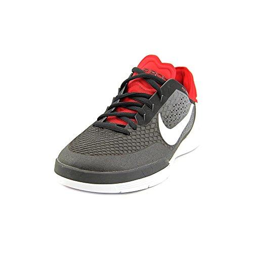 Nike Paul Rodriguez 8 para hombre de las zapatillas de deporte Formadores 654158 Black / White / Dark Grey / Gym Red