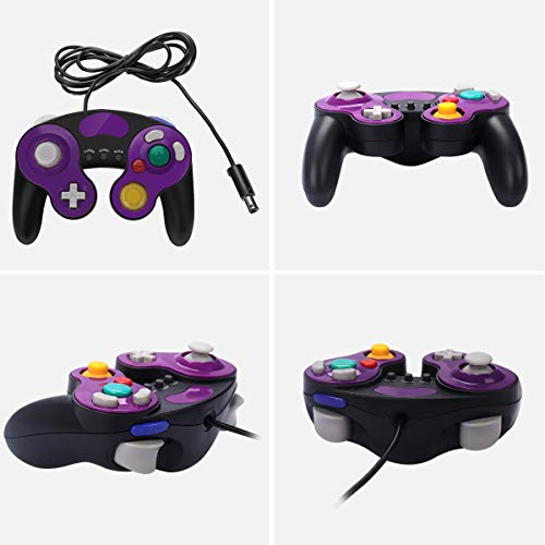 GameCube Controller for Super Smash Bros Ultimate,Wii Controller with Turbo  Function,No Lag/Driver,Compatible With Switch/Wii/Wii U/PC,Classical Wired