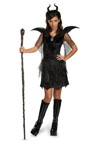 Disney Maleficent Movie Black Gown Tween Deluxe Costume, Medium/7-8 -